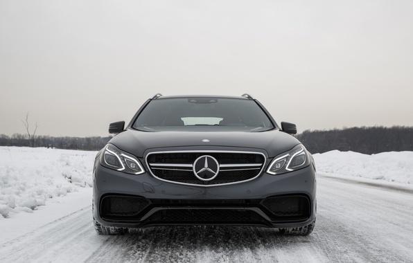 Картинка Зима, Снег, Mercedes, E63 AMG, S-Model, 4Matic