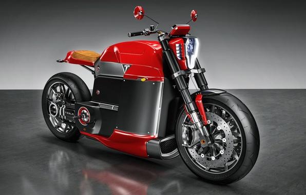 Картинка мотоцикл, bike, Tesla, Model M