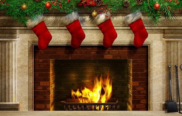 Картинка цвета, огонь, милая, рождество, красота, colors, colorful, fire, камин, красивая, Happy New Year, Christmas, красочные, …