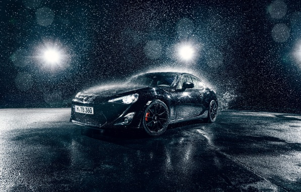 Картинка Toyota, Car, Front, Water, Sport, GT86, B;ack