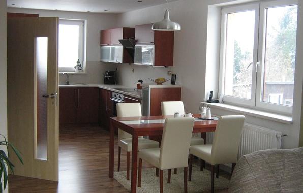 Картинка дизайн, дом, стиль, комната, интерьер, кухня, коттедж, obyvak