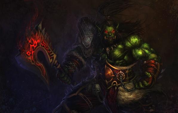 Картинка Воин, WoW, Орк, World of warcraft, вов, ork, Орда, Grom Hellscream, Horde, Громмаш, Гром Адский …