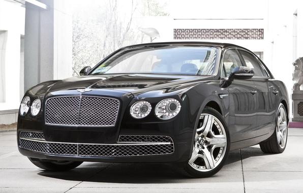 Картинка car, машина, Bentley, роскошь, передок, new, 2013, Flying Spur