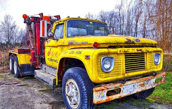 Картинка фон, грузовик, передок, тягач