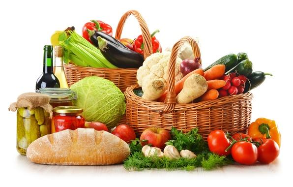 Картинка зелень, вино, красное, белое, яблоки, грибы, бутылка, лук, хлеб, баклажаны, перец, банки, фрукты, овощи, помидоры, …