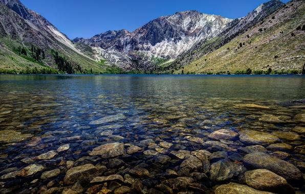 Картинка горы, озеро, USA, California, Convict Lake
