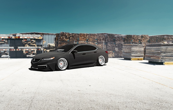 Картинка Car, Front, Grey, Acura, Stance, Low, TLX