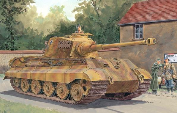 Картинка Германия, Танк, немцы, вермахт, Королевский тигр