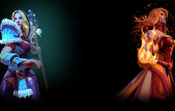 Картинка steam, Crystal Maiden, Dota 2, Lina, Фон профиля
