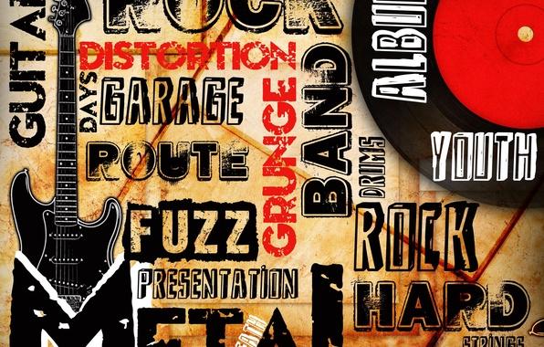 Картинка стиль, музыка, гитара, music, metal, guitar, Rock, рок, направления, band, grunge, picture, album, route, distortion