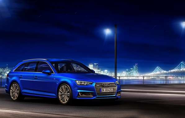 Картинка Audi, ауди, TDI, синяя, quattro, универсал, Avant, 2015
