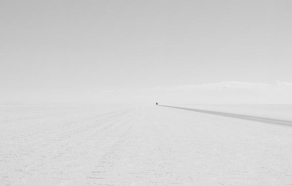 Картинка дорога, машина, минимализм