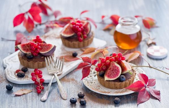 Картинка ягоды, еда, черника, мед, пирожное, фрукты, десерт, смородина, выпечка, сладкое, инжир, Anna Verdina