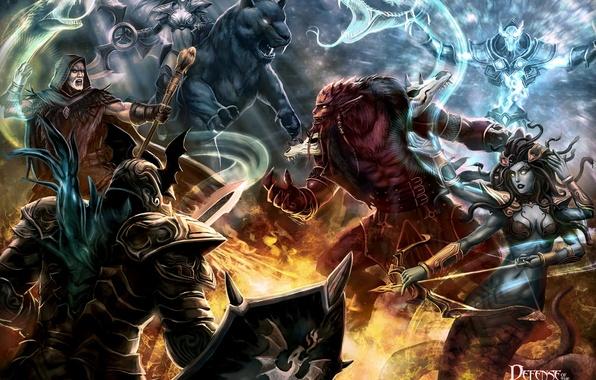 Картинка луна, дракон, медуза, холодильник, dota, дота, рубик, defense of the ancients, kunkka, калдр, шедоу демон
