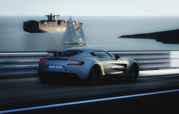 Картинка Aston Martin, скорость, ONE-77
