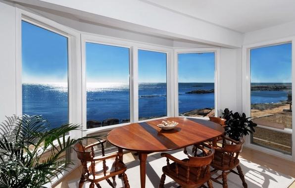 Картинка дизайн, дом, стиль, комната, вилла, интерьер, столовая