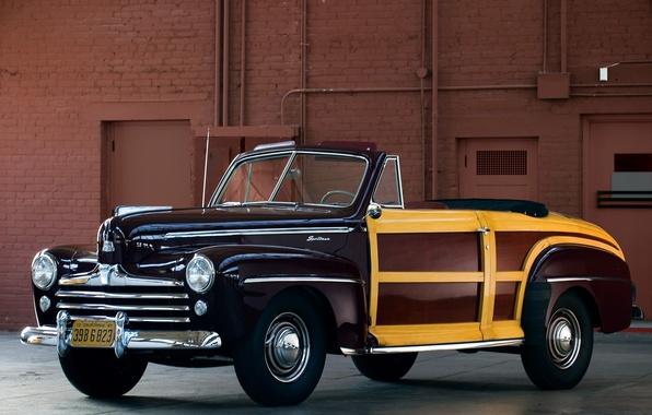 Картинка car, Ford, автомобиль, classic, Super, 1948, Convertible, Deluxe, Sportsman