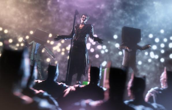 Картинка batman, dream, сцена, злодей, микрофон, joker, dc comics