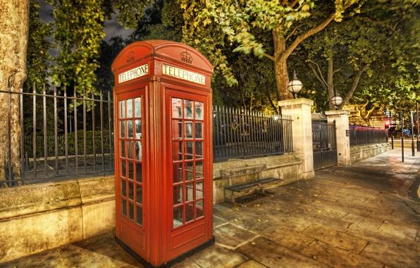 Картинка лето, улица, лондон, телефон, будка