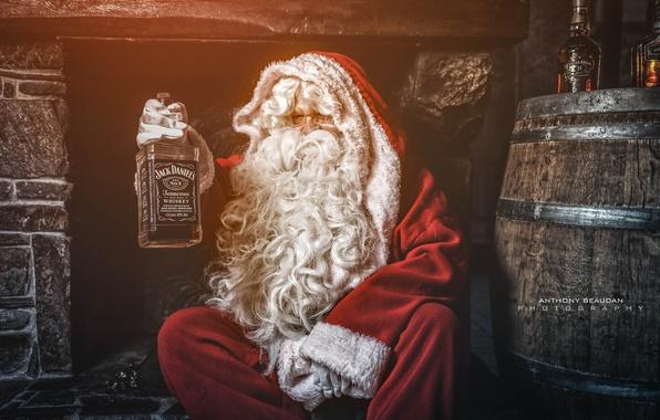 Картинка праздник, Christmas, Whiskey