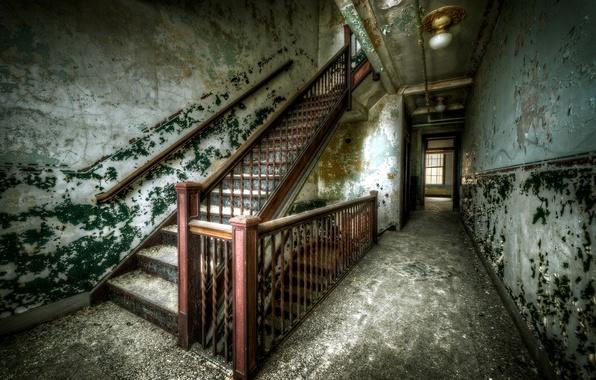 Картинка стены, интерьер, лестница