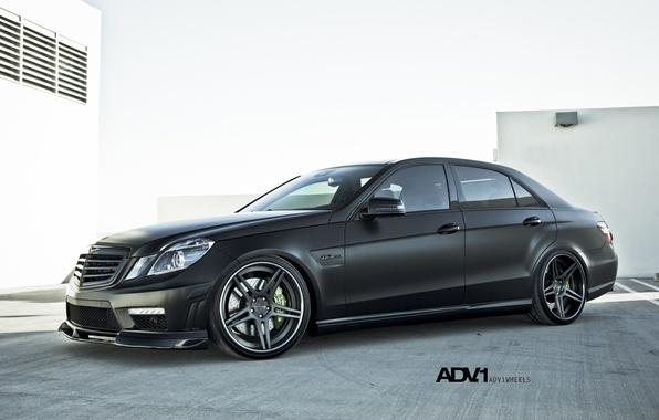 Картинка черный, матовый, Mercedes, диски, benz, e63