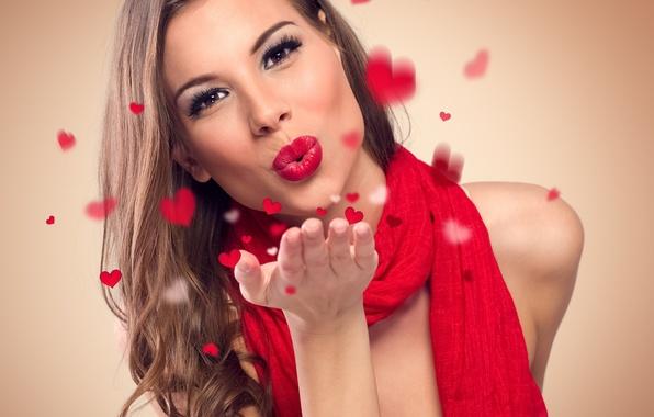 фото девушки поцелуй воздушный