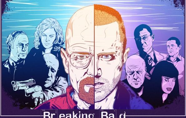 Картинка Breaking Bad, Bryan Cranston, Mike Ehrmantraut, Walter White, Aaron Paul, Jonathan Banks, Giancarlo Esposito, Jesse …