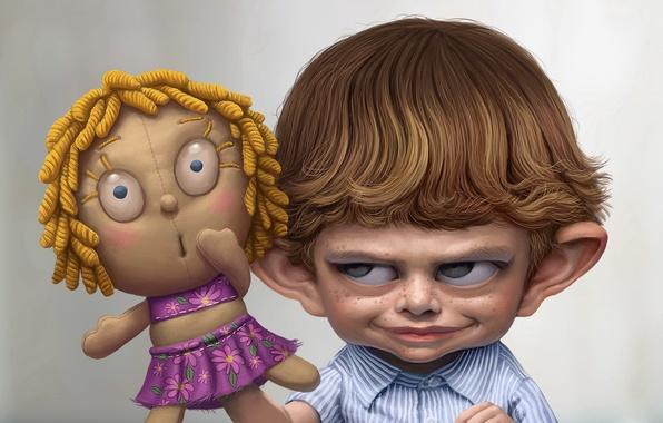 Картинка кукла, стыд, Мальчик