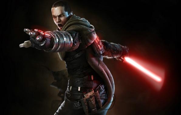 Картинка Star Wars, Звездные Войны, SW The Force Unleashed, Старкиллер, Световой Меч, Гален Марек, Galen Marek, …