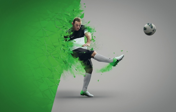 Картинка Спорт, Футбол, Уэйн Руни, Манчестер Юнайтед, Бутсы, Wayne Rooney, NIKE, Manchester United Football Club
