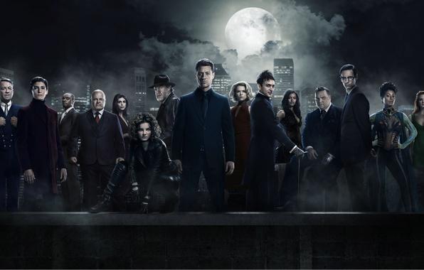 Картинка girl, Batman, man, cop, Season 3, Gotham, tv series, Gotham City, 8k