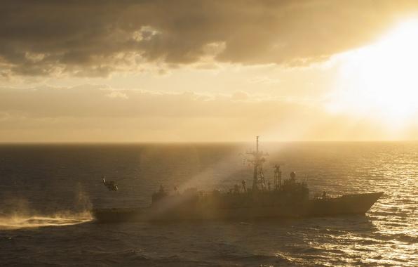 Картинка море, оружие, корабль