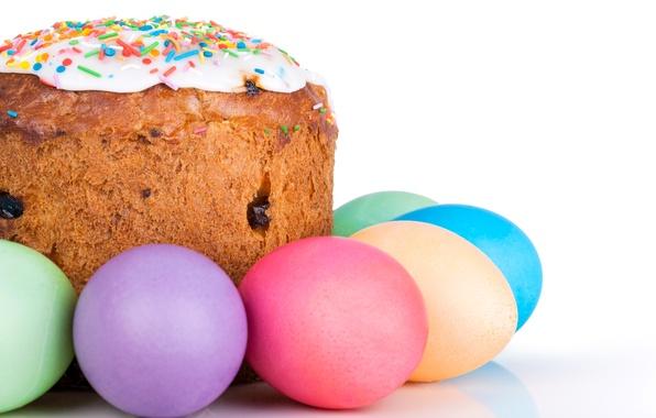 Картинка Пасха, Яйца, Праздник, Еда, Кулич, Выпечка