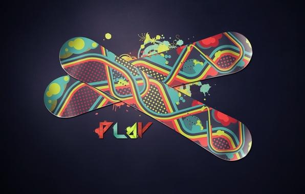 Картинка круги, стиль, полосы, надпись, узоры, краски, сноуборд, спорт, colors, линий, sport, snowboard, style, stripes, circles, …