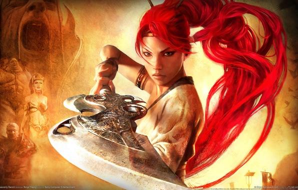 Картинка девушка, оружие, воин, Heavenly Sword 2