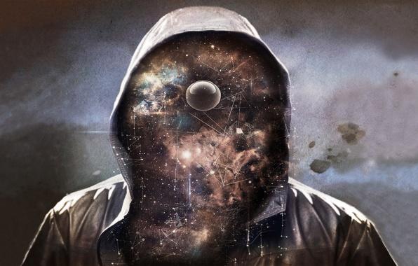 Картинка космос, звезды, вселенная, капюшон, мистер