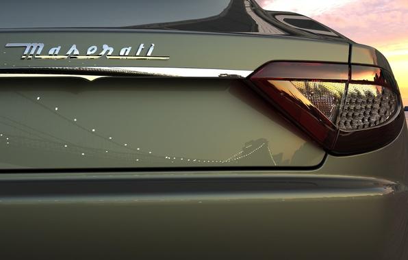 Картинка отражение, Maserati, фара, Мазератти