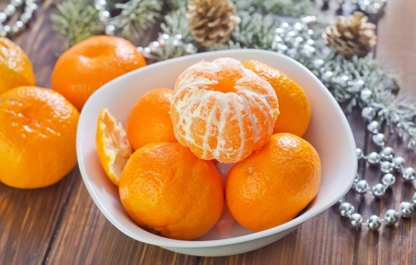 Картинка зима, фрукты, оранжевые, цитрусы, праздники, кожура, мандарины