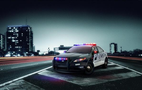 Картинка дорога, Ford, Interceptor, police