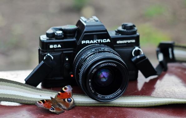 Картинка макро, фон, камера, Praktica BCA electronic