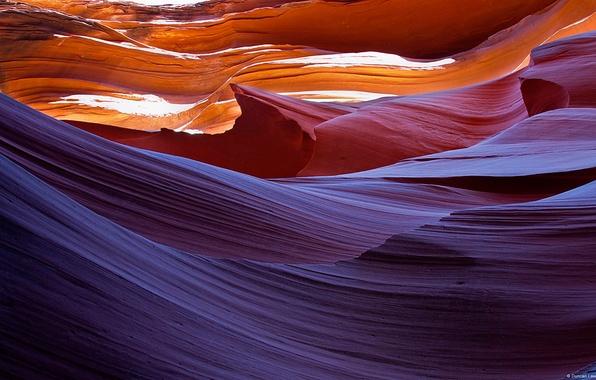 Картинка линии, скалы, Аризона, пещера, каньон антилопы, antelope canyon