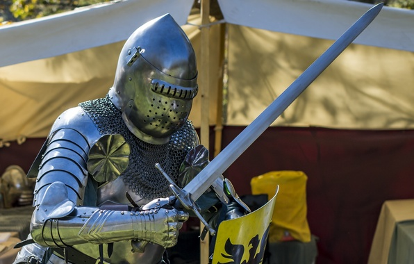 Картинка фон, меч, доспехи, рыцарь