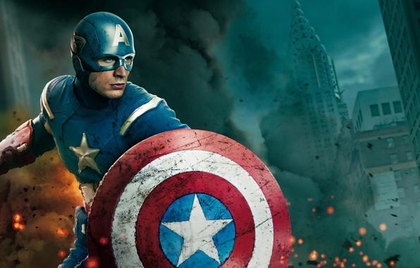 Картинка маска, герой, Капитан Америка, Captain America, Мстители, The Avengers