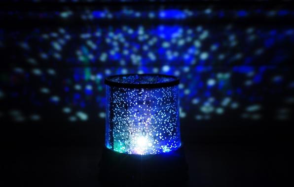 Картинка свет, фон, голубой, widescreen, обои, настроения, лампа, свечение, wallpaper, широкоформатные, background, ночник, полноэкранные, HD wallpapers, …