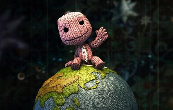 Картинка Земля, Человечек, Вязка