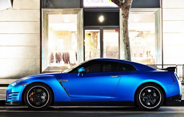 Картинка GTR, Nissan, Blue, Sportcar