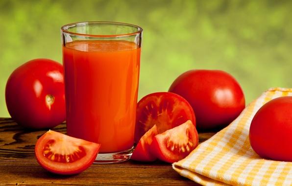 Картинка стакан, красные, овощи, помидоры, томаты, салфетка, томатный сок