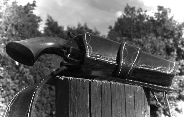 Картинка оружие, ствол, револьвер, кобура