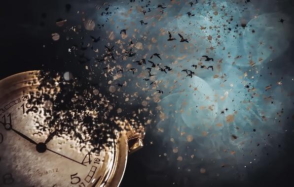 Картинка время, фон, часы